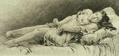 Woman having an epileptic fit,1855