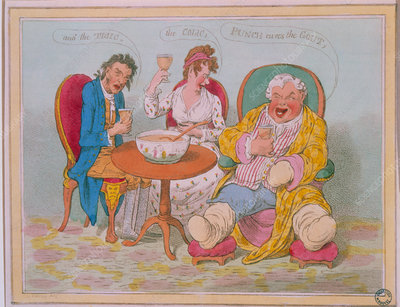Punch cures the Gout.. caricature by Gillray