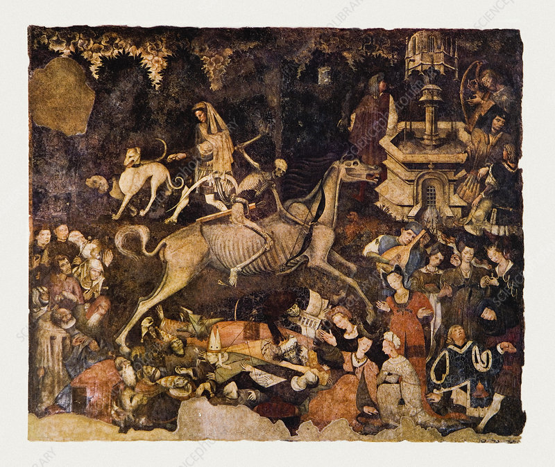 The Triumph of Death, Medieval fresco