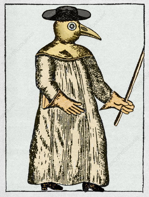 Plague doctor, France, 18th century