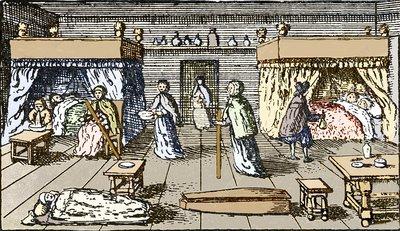 Plague victims, 17th century London