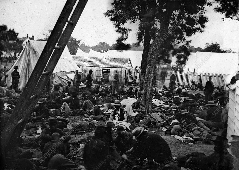 Field hospital, American civil war