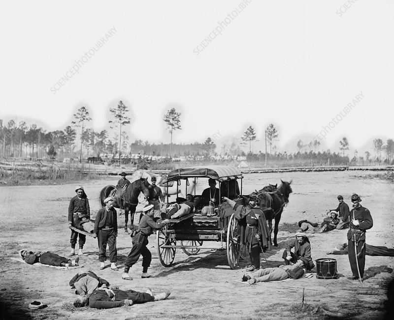 Zouave ambulance crew, American civil war