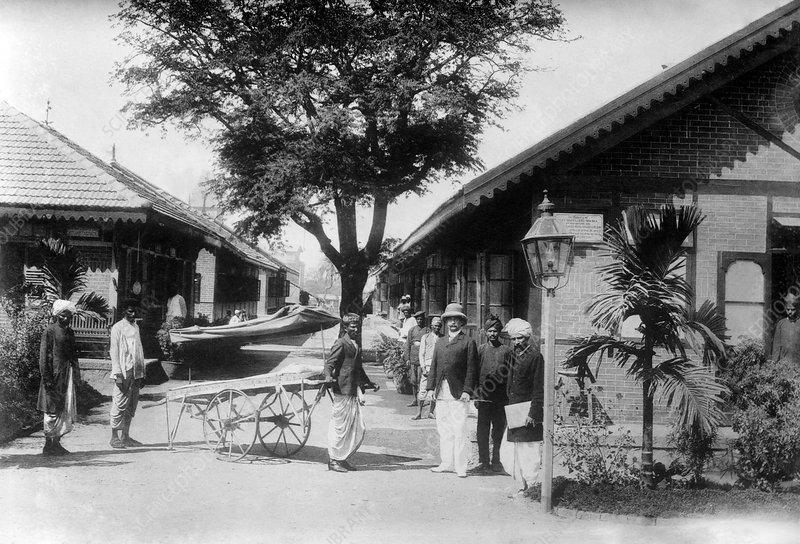 Plague hospital, India, 1922
