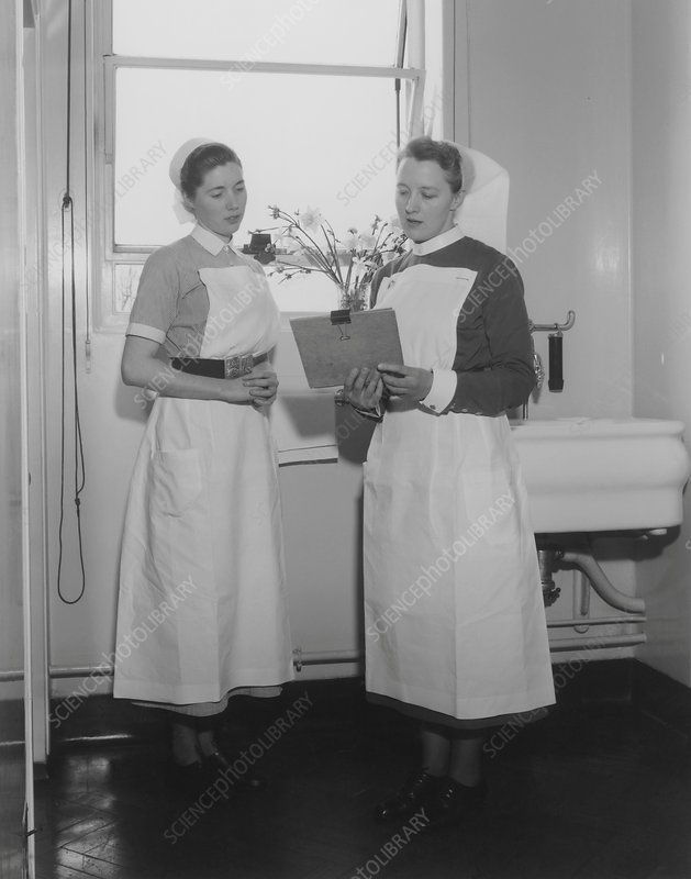 Nurse and sister, 1950