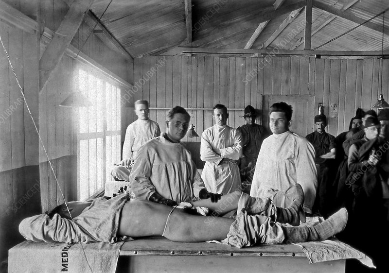 Base hospital in World War I