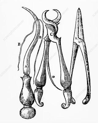 16th century equipment of Ambroise Pare