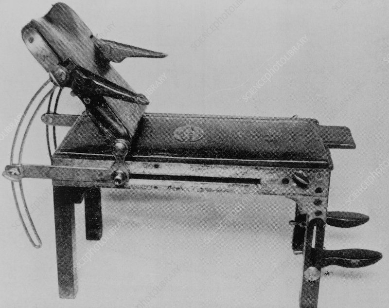 19th century operating table used by Joseph Lister