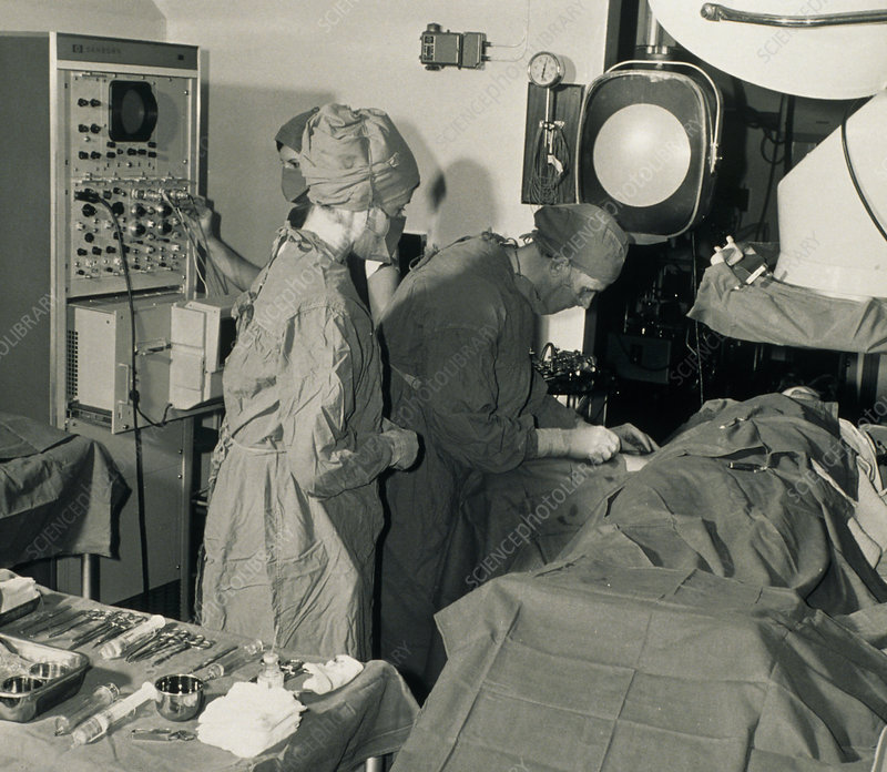 Angiography operating theatre, 1967
