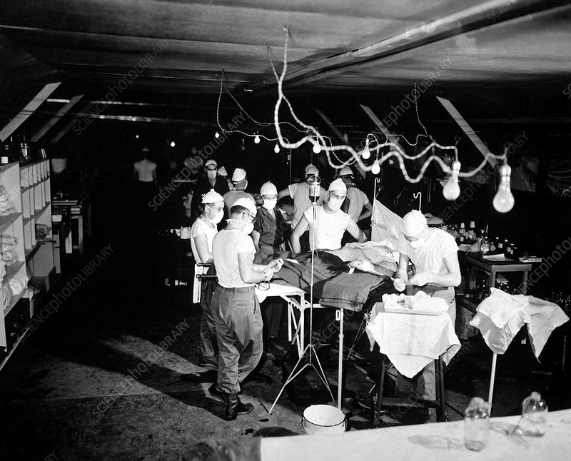 Korean War surgery, 1952