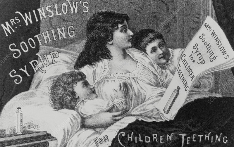 Advertisement for Mrs Winslow's Soothing Syrup