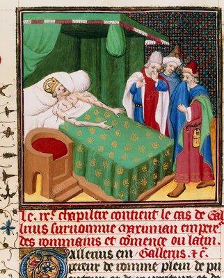 Illus. from Boccaccio's Decameron, use of leeches