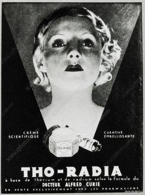 Advertisement for a radium-based facial cream