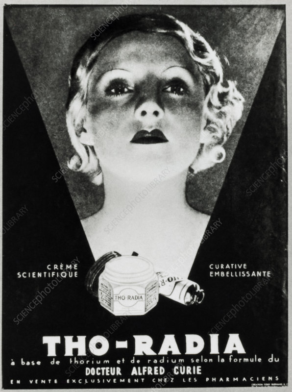 Advertisement for a radium-based facial cream