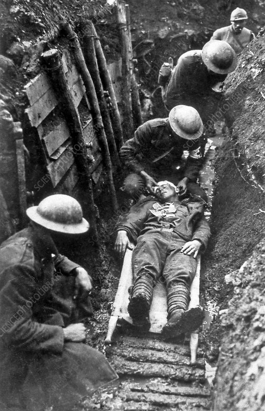 First aid in a trench