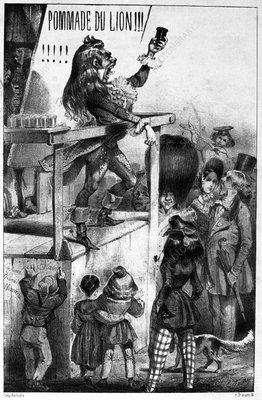 Advert for Pommade du Lion, 19th century