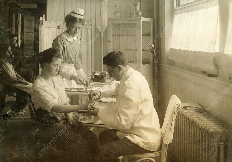 Hospital treatment, 1917