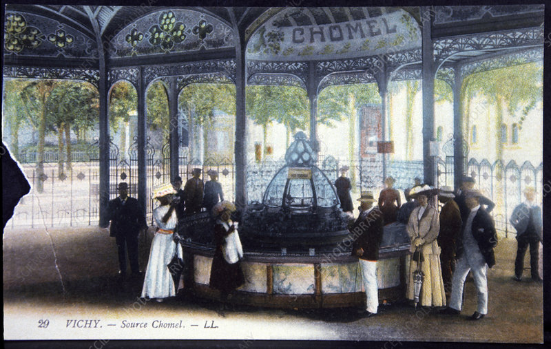 Vichy mineral water spring, 1910