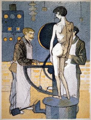 Weighing machine in a sanatorium, 1905