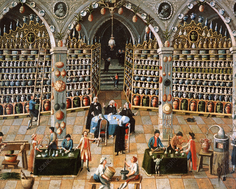 18th C. apothecary