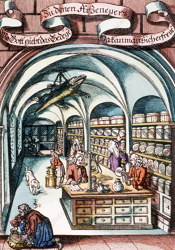 18th century pharmacy