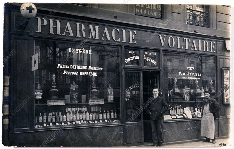 French pharmacy, 1930