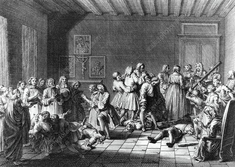 Engraving of the attempted healing of possessed