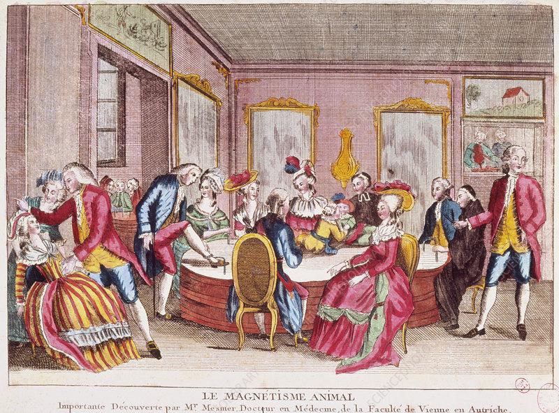 'Animal Magnetism', French engraving 1784
