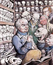 Caricature of Franz Gall, inventor of phrenology