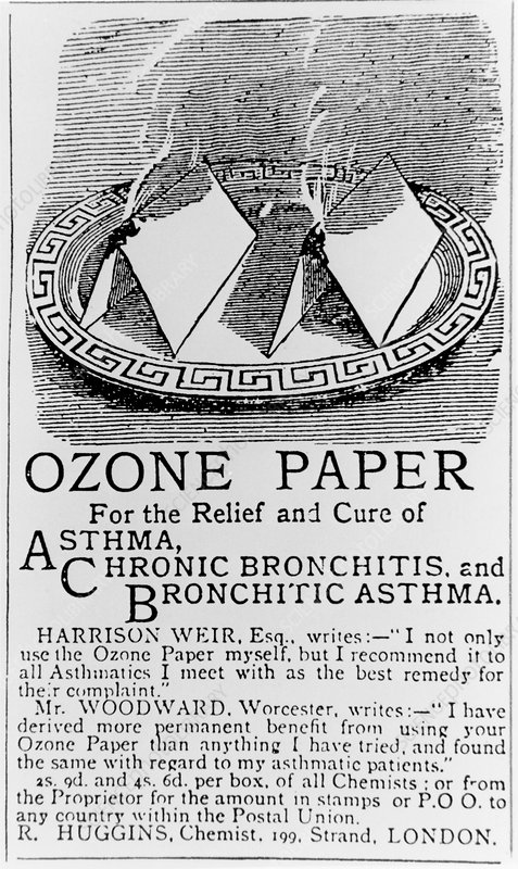Advertisment for ozone paper