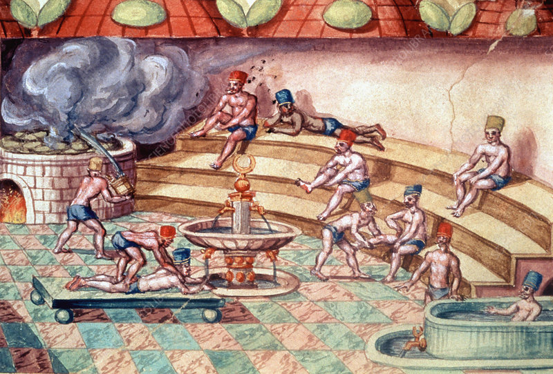Turkish baths, 17th century