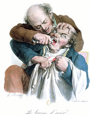 Dentistry caricature, 19th century