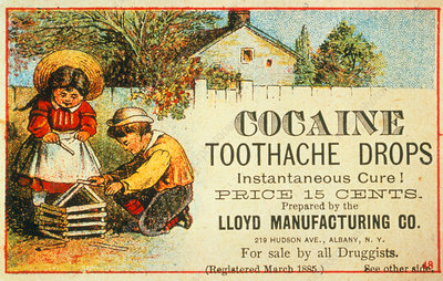 Advertisement for Cocaine toothache drops