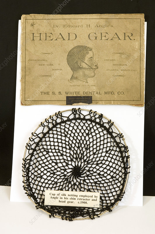 Historical orthodontic head gear