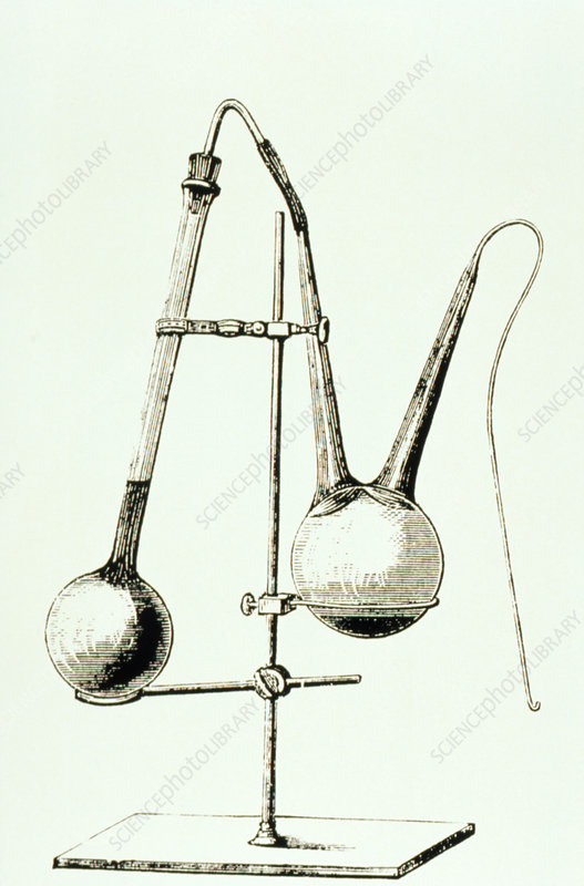 Apparatus used by Louis Pasteur