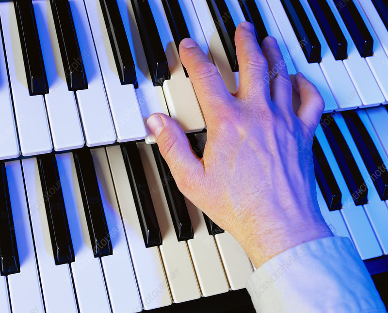 Playing the electric organ