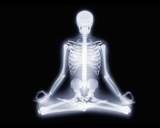 Yoga position, X-ray artwork