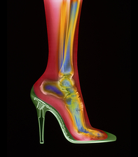 Foot in high-heel shoe