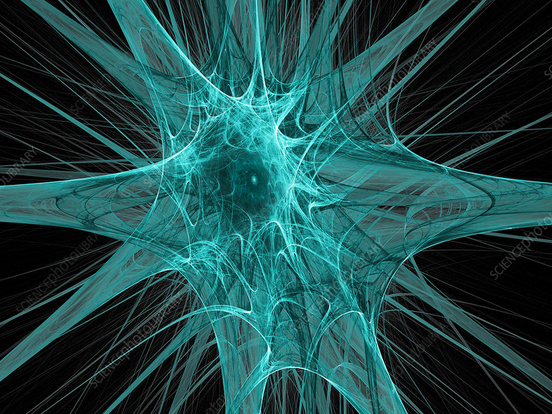 Nerve cells, abstract artwork