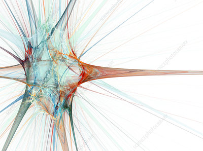 Nerve cell, abstract artwork