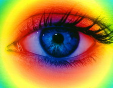 Colour vision: spectrum of light and human eye