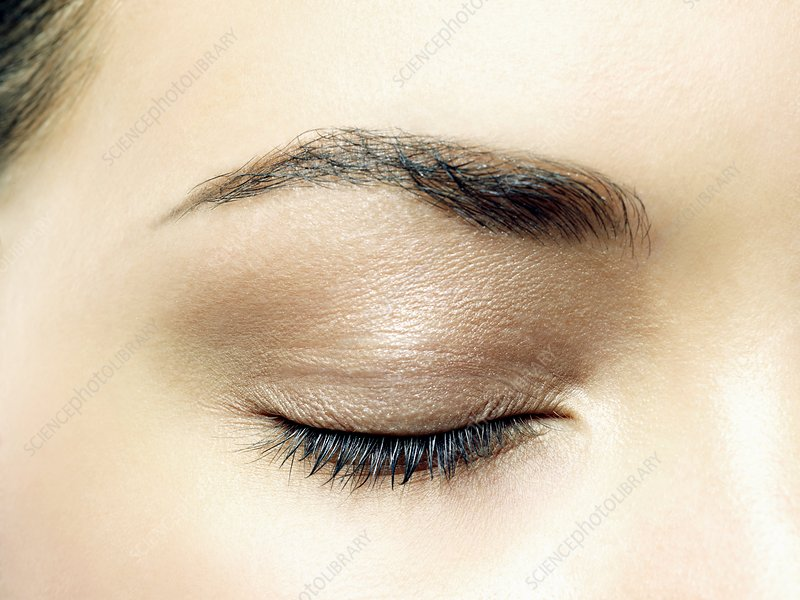 Woman's closed eye