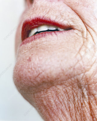Elderly woman's mouth