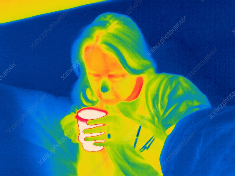 Hot drink, thermogram