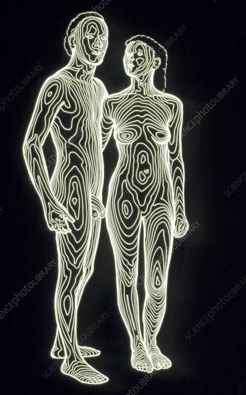 contour map of man and woman together