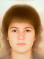 Beauty: composite face of 15 attractive women