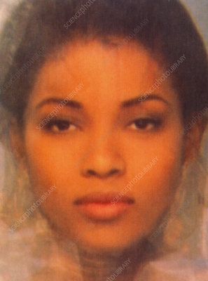 Composite computer face of Afro-Caribbean models