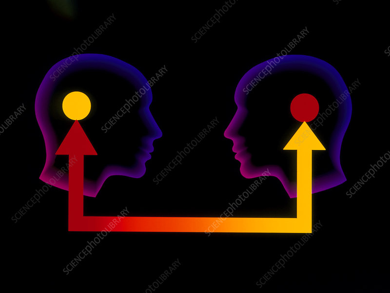 Abstract illustration communication between two people ... |Communication Between People