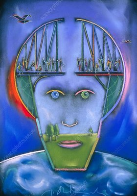 Artwork titled Bridging thoughts (1993)