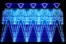 Abstract image of human figures of neon lights